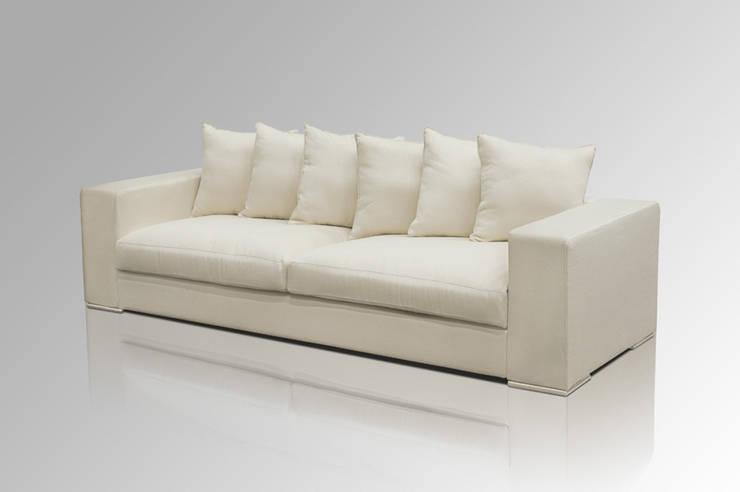Sofa 4-SITZER CREME:  Wohnzimmer von Amaris Elements