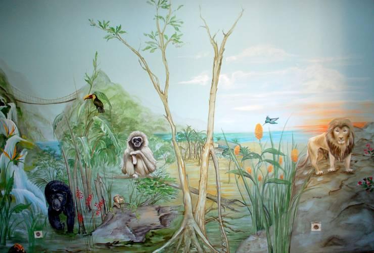 Dschungel - Kinderzimmer:  Kinderzimmer von Wandmalerei & Oberflächenveredelungen
