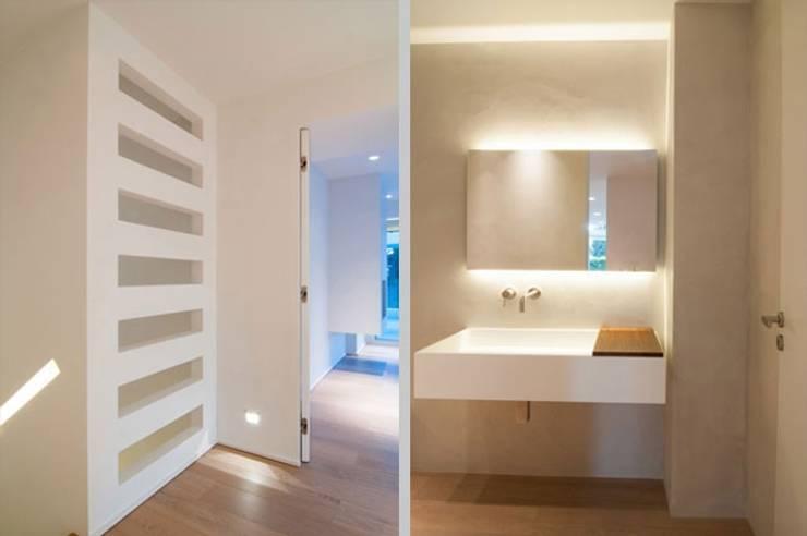 Badezimmer - Feuchträume in Betonoptik:  Badezimmer von Fugenlose  mineralische Böden und Wände