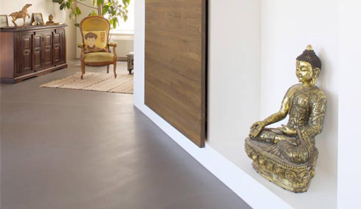 Living room by Fugenlose  mineralische Böden und Wände