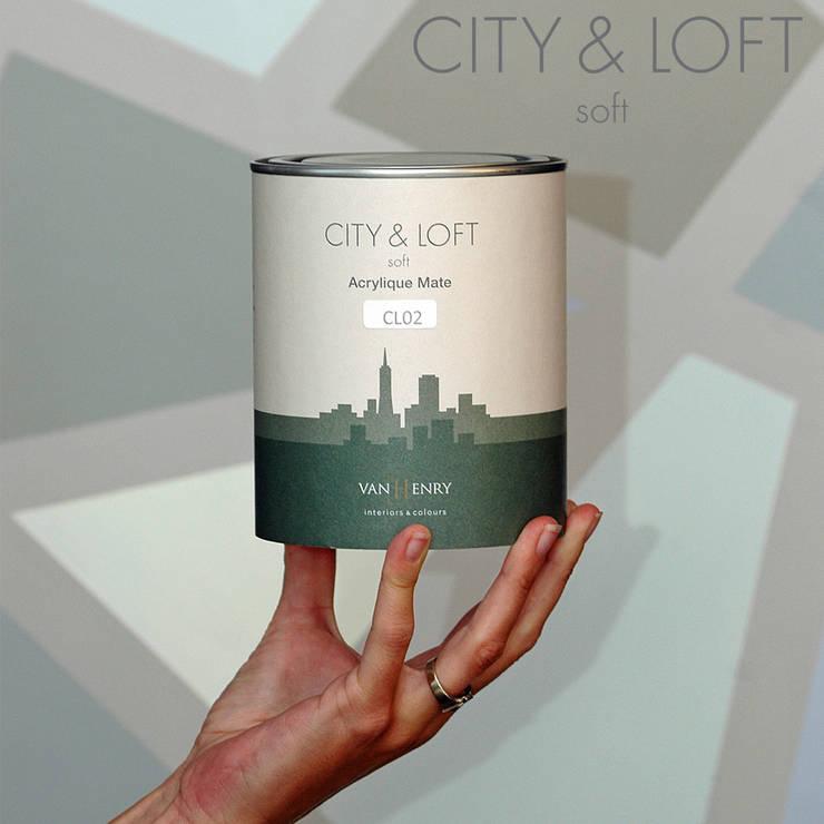City & Loft Soft by vanHenry colours:  Wände & Boden von vanHenry interiors & colours