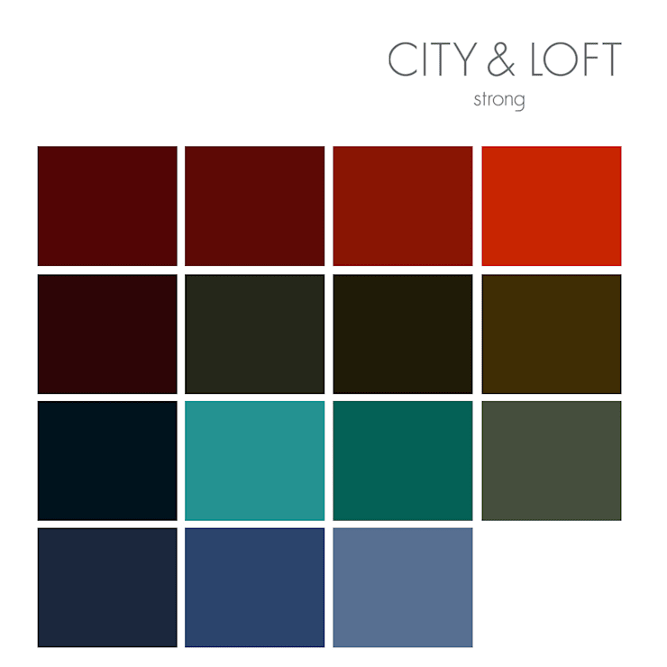 City & Loft Strong by vanHenry colours:  Wände & Boden von vanHenry interiors & colours