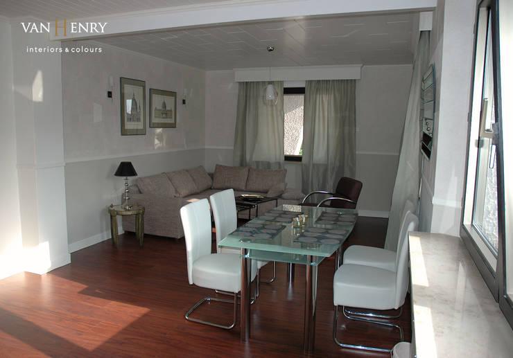"""""""Berlin"""" Wohnung:  Wohnzimmer von vanHenry interiors & colours"""