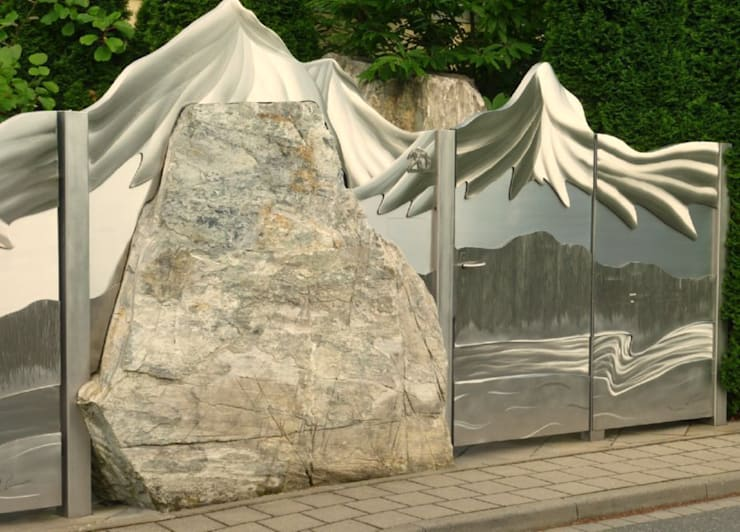 Сады в . Автор – Edelstahl Atelier Crouse - individuelle Gartentore