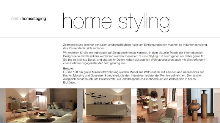 Home Styling Extreme:   von berlin homestaging