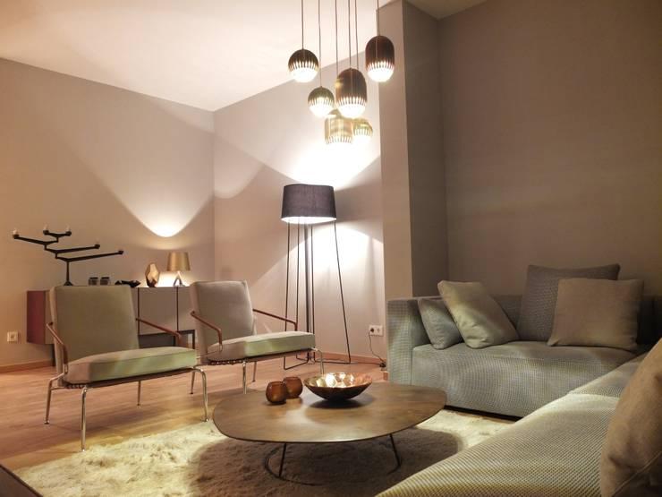 Projekty,  Salon zaprojektowane przez berlin homestaging