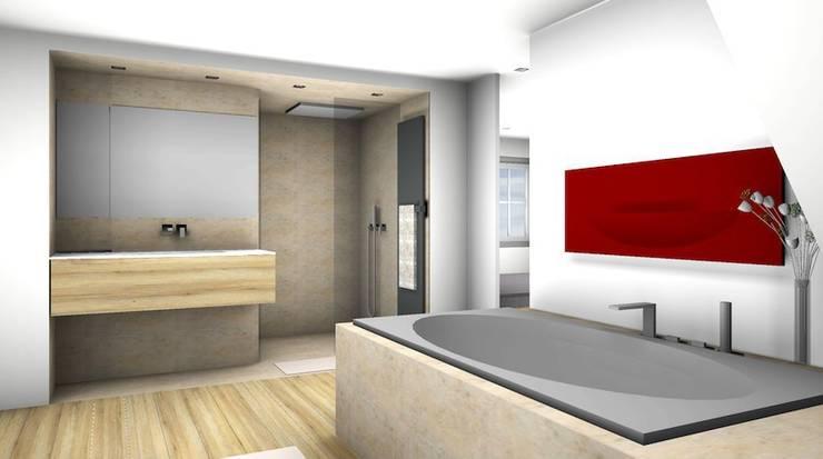 Fitness & Sauna: moderne Badezimmer von Peter Rohde Innenarchitektur