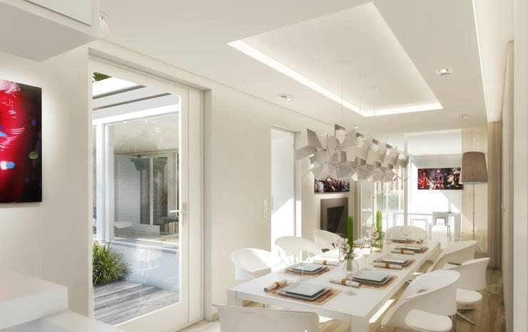 Bungalow Berlin Tiergarten:  Esszimmer von BERLINRODEO interior concepts GmbH