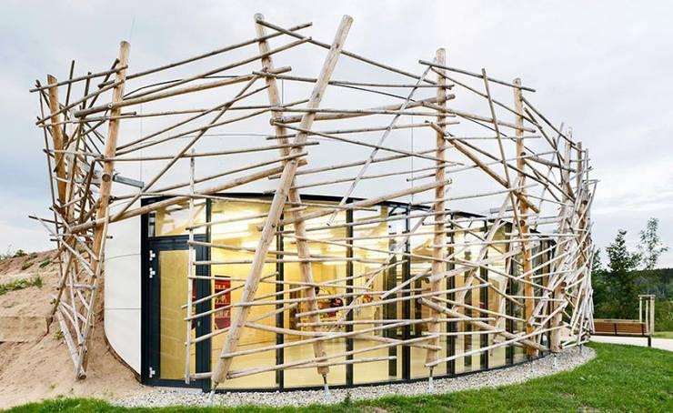 Umweltstation Rothsee:  Häuser von [lu:p] Architektur GmbH
