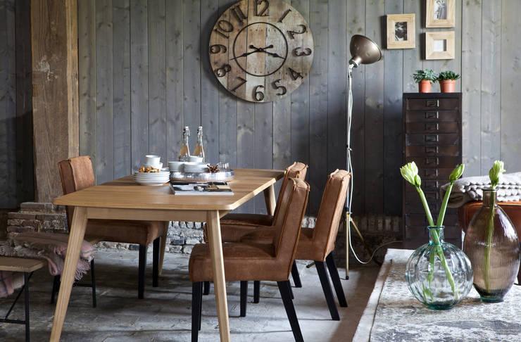 BePureHome eettafel Oxford, stoelen Rodeo en metal Sheet:   door BePureHome, Scandinavisch