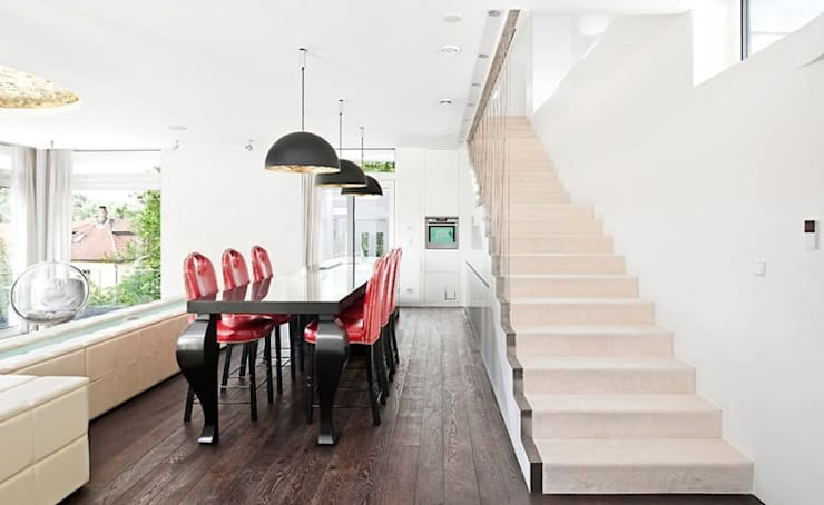 Wohnhaus W2:  Esszimmer von [lu:p] Architektur GmbH
