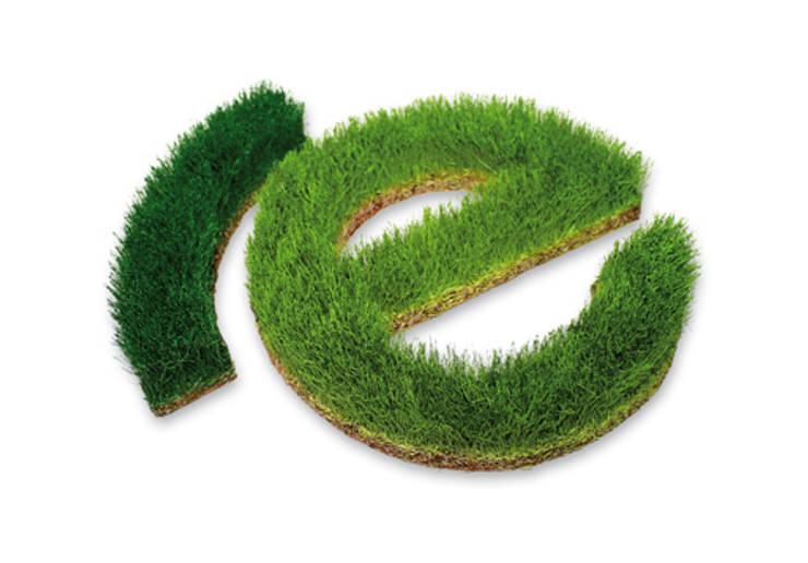 Schrift aus Gras:   von Grassland