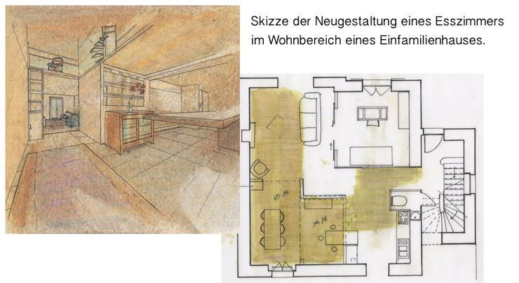 Zeichnungen: moderne Esszimmer von vanHenry interiors & colours