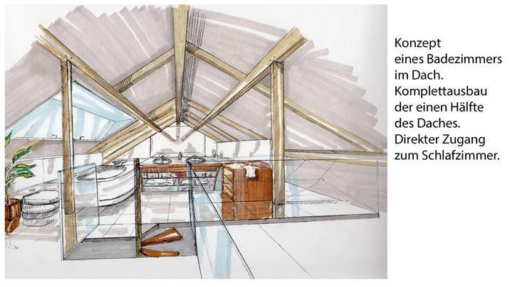 Zeichnungen: moderne Badezimmer von vanHenry interiors & colours