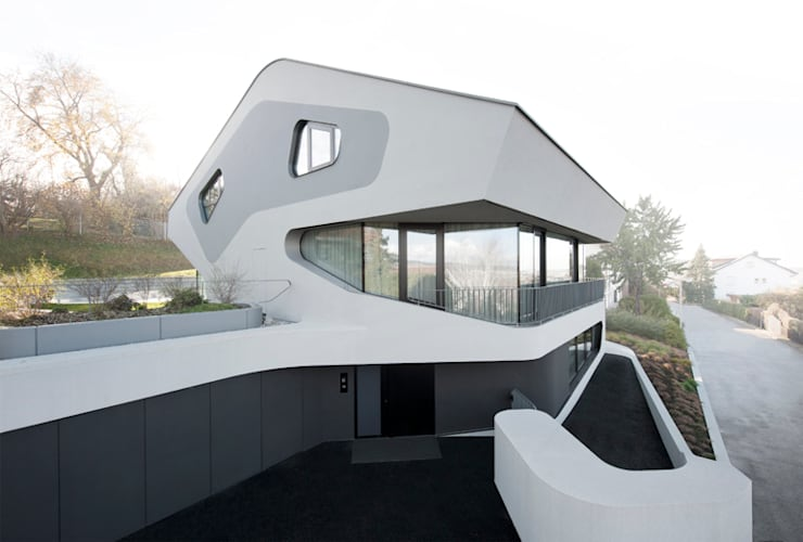 OLS HOUSE - new 4-person family home near Stuttgart:  Häuser von J.MAYER.H