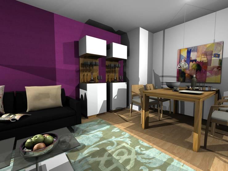 MIt dem Computer geplant- in der Werkstatt gebaut und realisiert:  Wohnzimmer von Einrichtungshaus & Innenarchitektur Jablonski GmbH