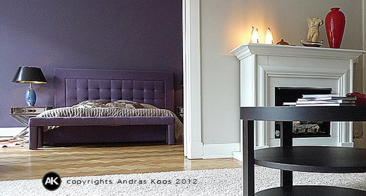 Altbauwohnung Winterhude : moderne Schlafzimmer von Andras Koos Architectural Interior Design