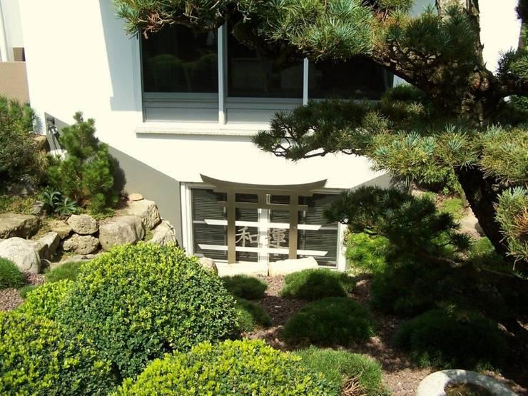 Edelstahl Fenstergitter: moderner Garten von Edelstahl Atelier Crouse - Stainless Steel Atelier