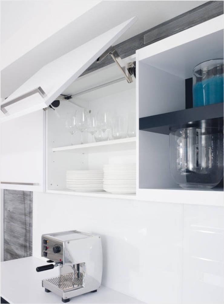 Küchenfronten – weiß, Hochglanz:  Küche von ALNO AG