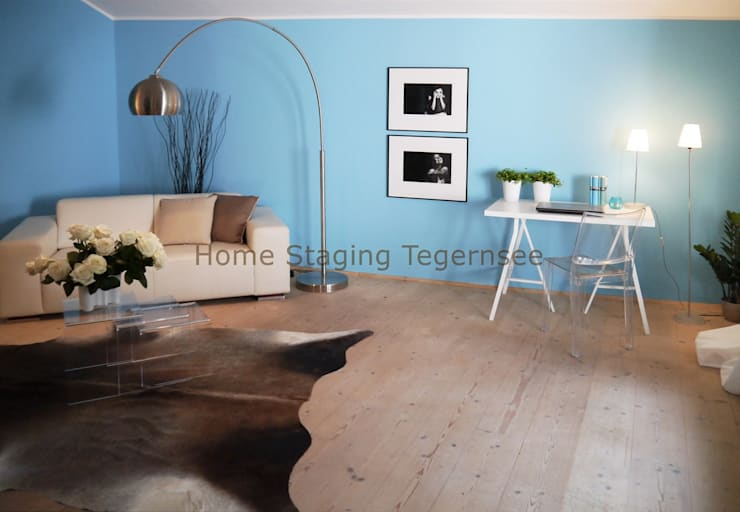 Living room by Home Staging Tegernsee