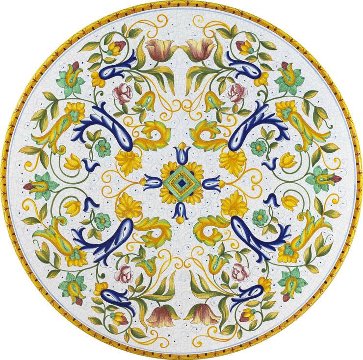 Arredare il proprio giardino con un opera d\'arte: Tavoli in ceramica ...