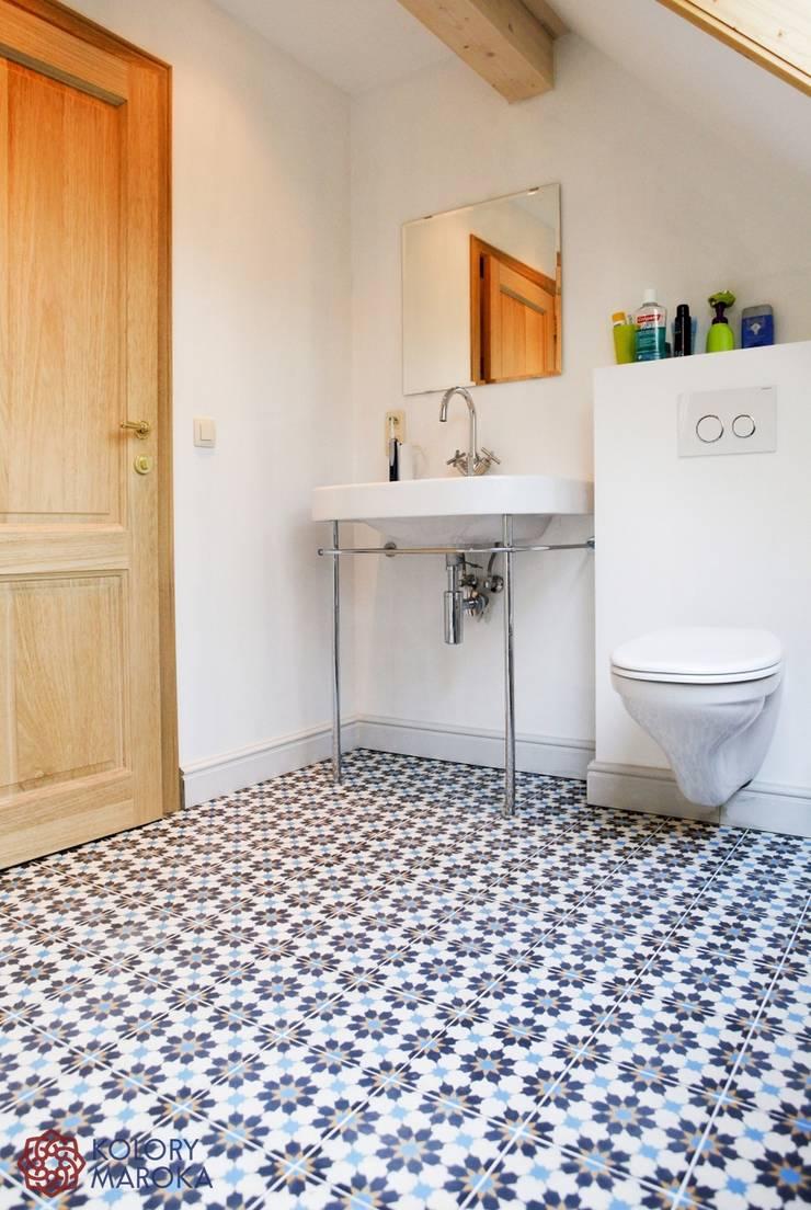 Salle de bains de style  par Kolory Maroka, Méditerranéen