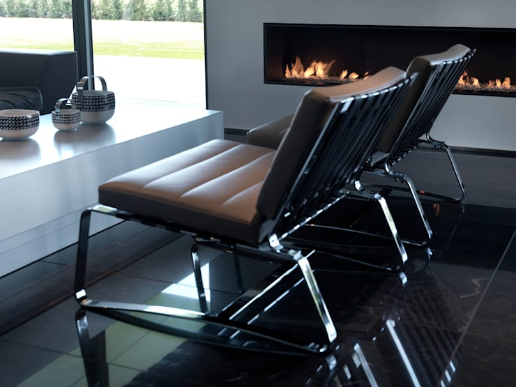 Hassel   Luxemburg: moderne Wohnzimmer von LEICHT Küchen AG