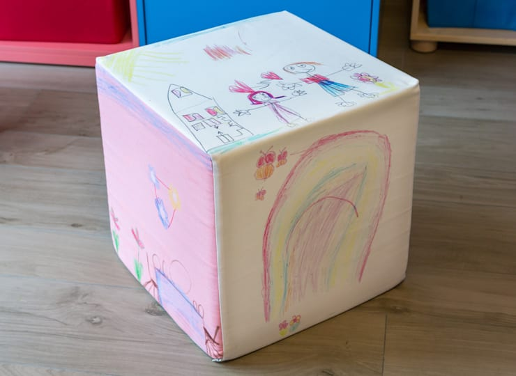Sitzwürfel:  Kinderzimmer von fotokasten GmbH