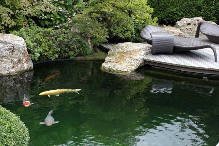 Kompletter Garten St. Goarshausen: moderner Garten von Kirchner Garten + Teich GmbH