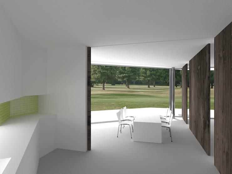 MMR Haus: moderne Esszimmer von Hackenbroich Architekten