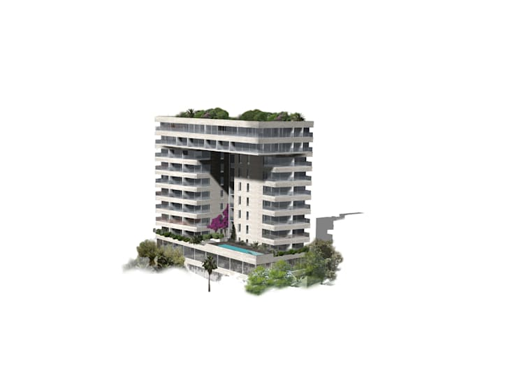 Hackenbroich Architekten: modern tarz Evler