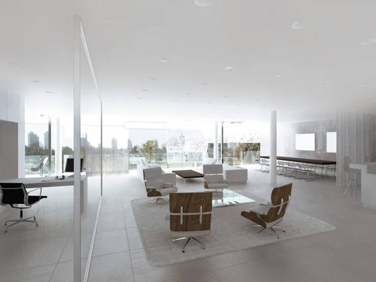 Soggiorno in stile  di Hackenbroich Architekten