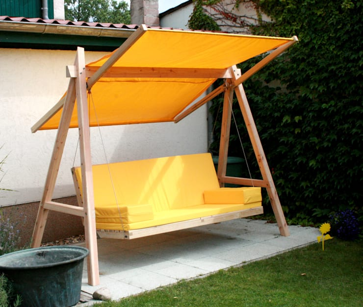 Pool22_Hollywoodschaukel aus Holz:  Garten von Pool22.Design