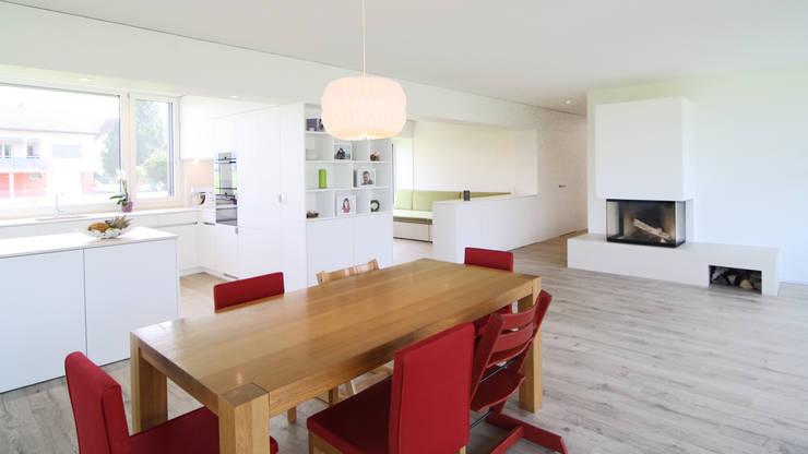 Einfamilienhaus Benken:  Esszimmer von Fäh Architektur