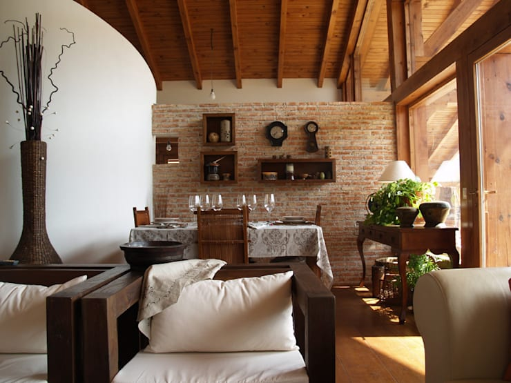 Vestíbulos, pasillos y escaleras de estilo  por Manuel Monroy, arquitecto