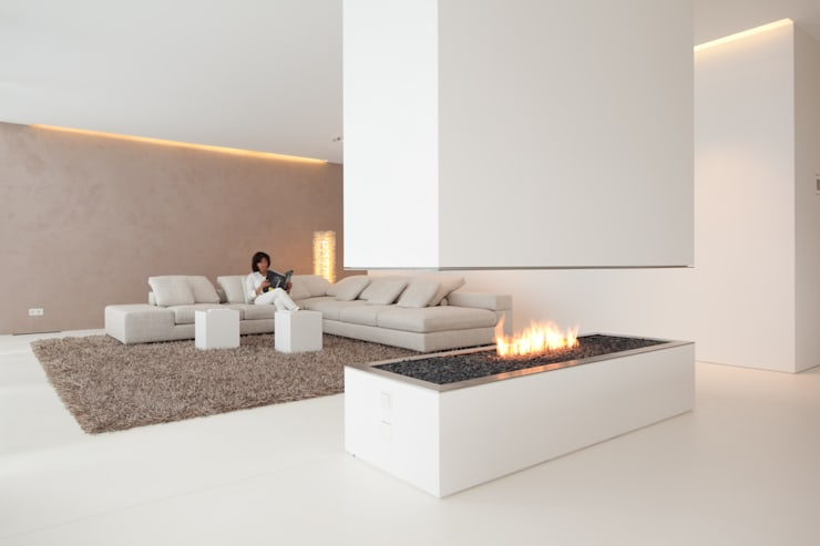 modern Living room by HI-MACS®