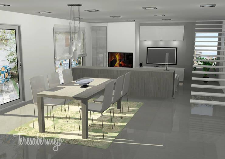 El Salón de Jesús y Ana : Salones de estilo  de  Diseñadora de Interiores, Decoradora y Home Stager