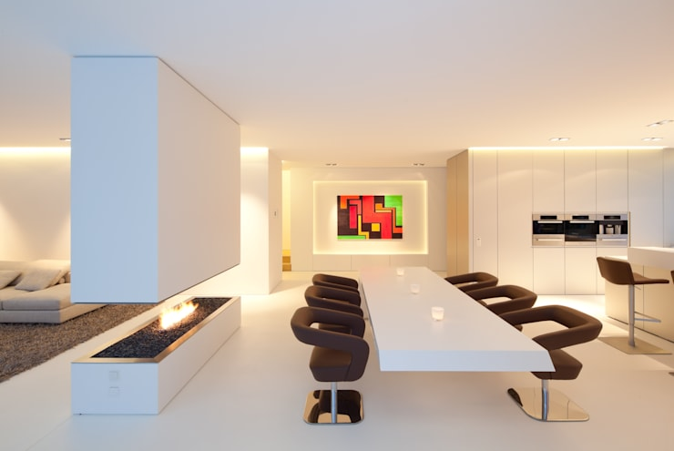 Salas de jantar modernas por HI-MACS®