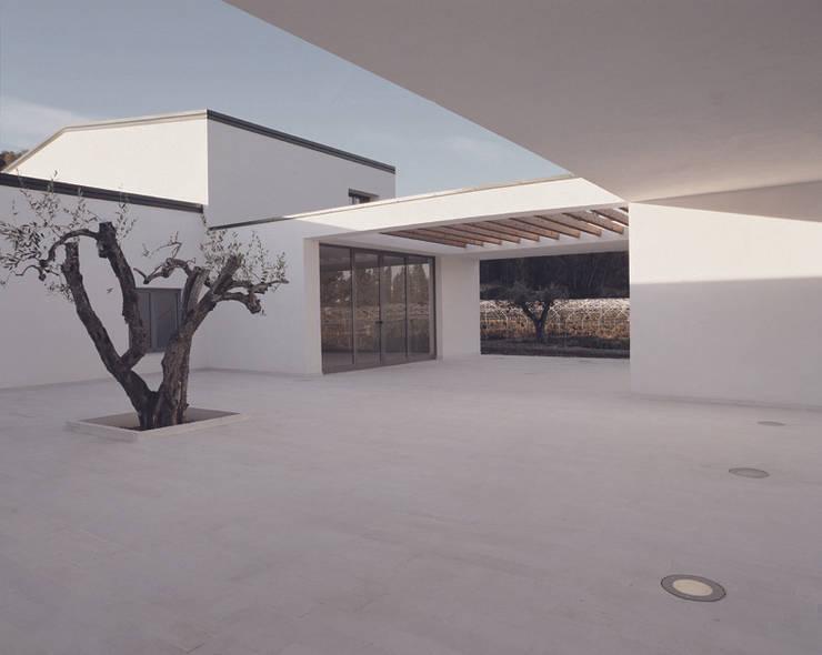 TAVERNA WINERY: Terrazza in stile  di ONSITESTUDIO