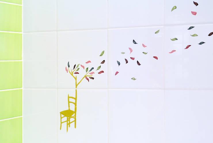 Walls & flooring تنفيذ CAFElab studio