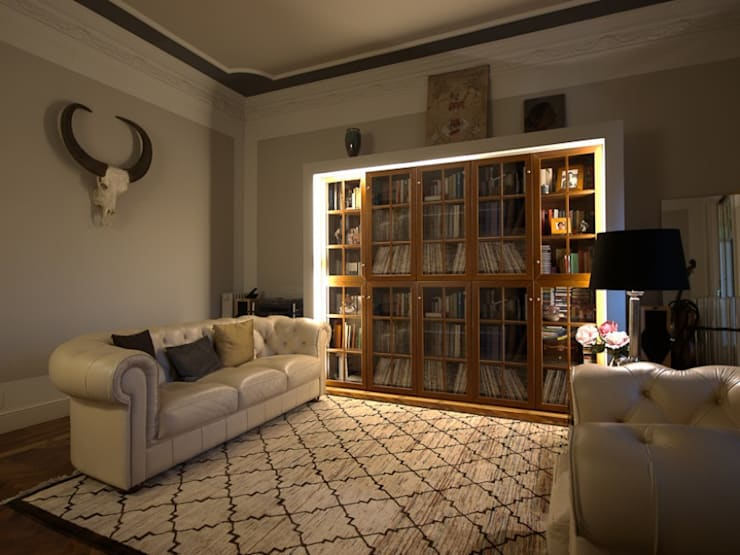ETNA STUDIO PISO Muntaner/Diagonal: Salones de estilo  de ETNA STUDIO