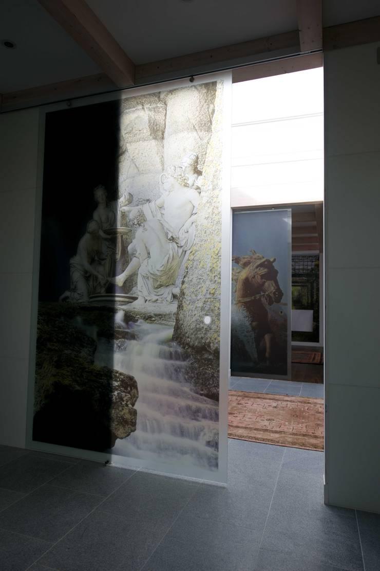printed sliding glass doors for project in melbourn. Black Bedroom Furniture Sets. Home Design Ideas