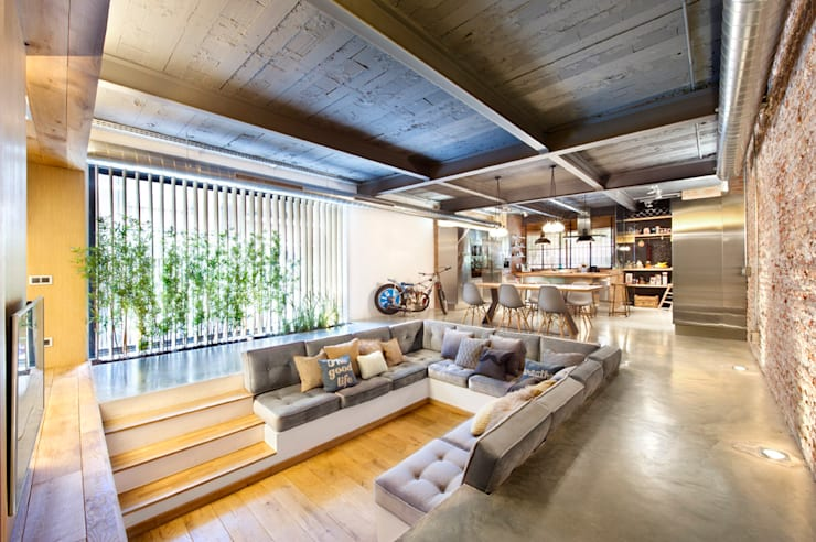 rustic Living room by Egue y Seta