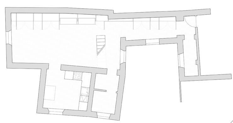 Huizen door écru architetti