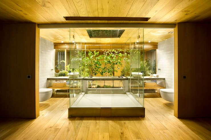 Banheiros rústicos por Egue y Seta