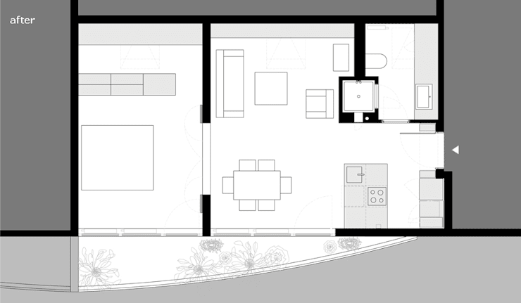 Umbau Dachgeschosswohnung, München: Casas de estilo  de Brut Deluxe Architecture + Design