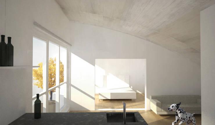 Woonkamer door Brut Deluxe Architecture + Design