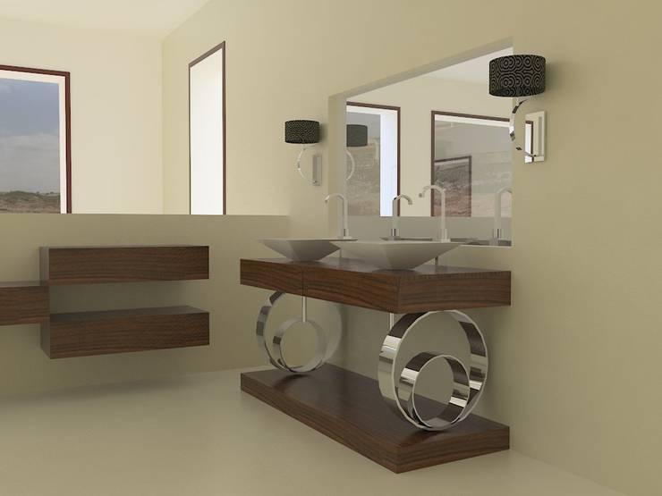 Diseño de mobiliario de baño Baños de estilo ecléctico de MUMARQ ARQUITECTURA E INTERIORISMO Ecléctico