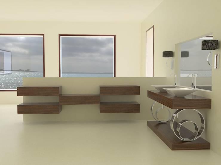 Mueble diseñado en exclusiva para nuestros clientes. Baños de estilo ecléctico de MUMARQ ARQUITECTURA E INTERIORISMO Ecléctico