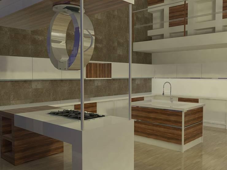 Cocinas de estilo  por MUMARQ ARQUITECTURA E INTERIORISMO